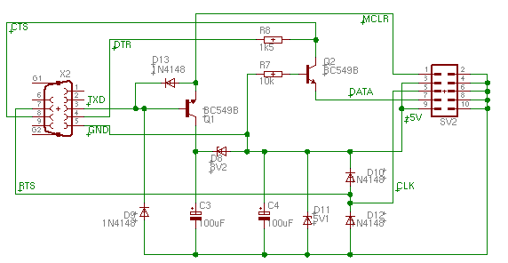 the jdm pic programmer, redrawni took the liberty to redraw the above circuit with the pads software in the drawing above, you see the result i think this is somewhat easier to read